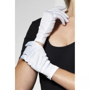 0190 - Short Gloves, White