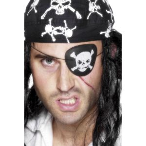 20077 - Deluxe Pirate Eyepatch, Black