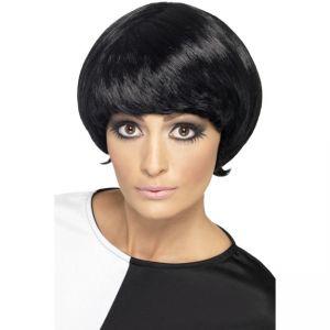 20221 - 60\'S Psychedelic Wig,Black