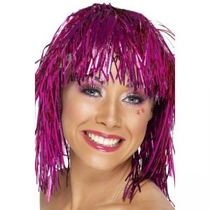 20871 - Cyber Tinsel Wig, Pink