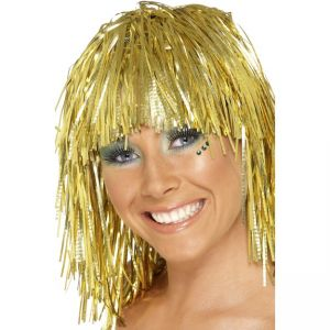 20873 - Cyber Tinsel Wig, Gold
