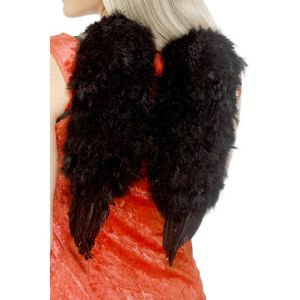 20896 - Black Feather Angel Wings, Black