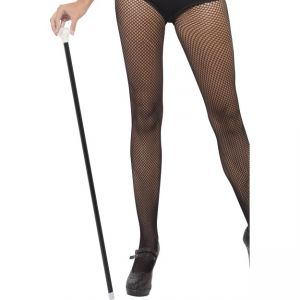 20\'s Style Dance Cane, Black With White Tip, Length 80cm