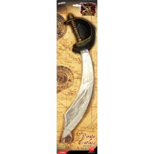 21068 - Eyepatch And Pirate Sword, Silver