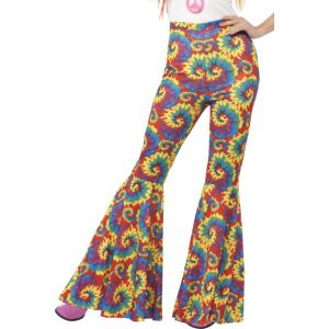 21459 - Flared Trousers, Multi-Coloured, Tie Dye