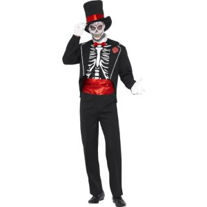 21565 - Day Of The Dead Costume, Black