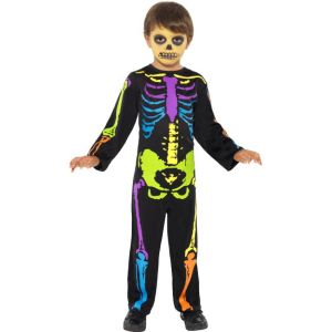 21611 - Punky Multi-Neon Skeleton Costume, Child