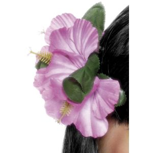 21738 - Hawaiian Flower Hair Clip, Pink