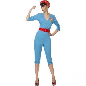22133 - 1940\'S Factory Girl, Blue