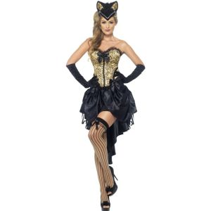 22356 - Burlesque Kitty Costume, With Corset And Skrt