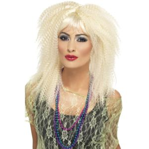 23160 - 80\'S Crimp Wig, Blonde