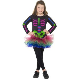 24387 - Neon Skeleton Girl Costume