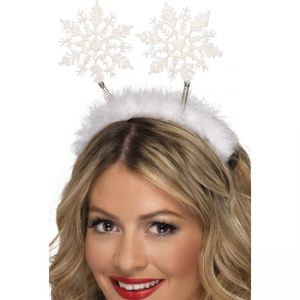 24790 - Snowflake Head Boppers, White