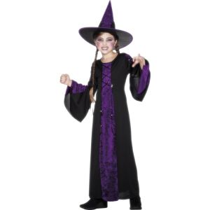 25073 - Bewitched Costume, Black And Purple