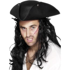 25110 - Pirate Tricorn Hat, Black