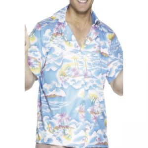 25259 - Hawaiian Shirt, Blue