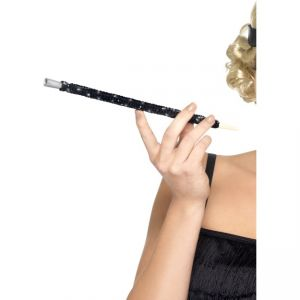 26284 - Black Sequinned Cigarette Holder