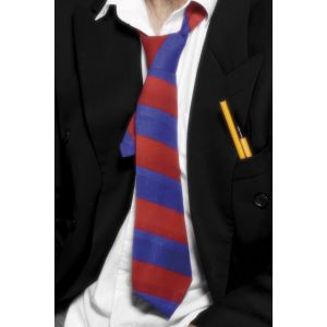 26444 - School Tie Red And Blue