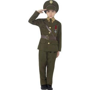 27536 - Army Officer Costume, Jacket With Attached Belt