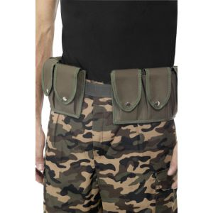 28325 - Army Belt, Khaki, With Pouches