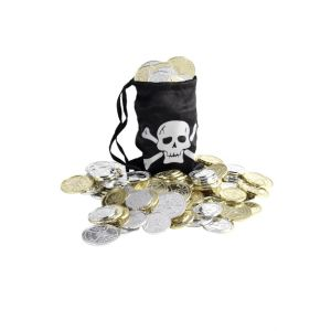 28344 - Pirate Coin Bag, Black