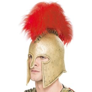 28425 - Roman Armour Helmet, Gold And Red