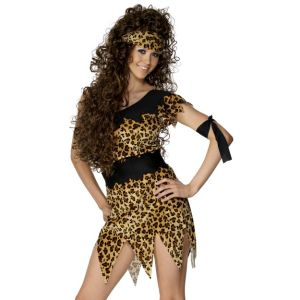28600 - Cavewoman Costume, Black And Brown