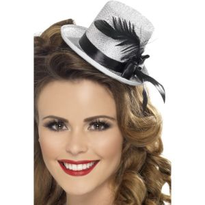 28782 - Mini Tophat, With Ribbon And Feather