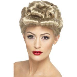 29608 - 40\'S Vintage Wig,Blonde