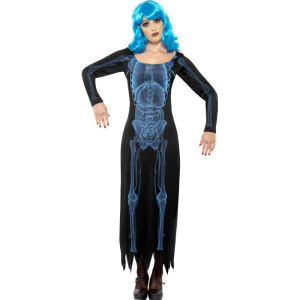 29632 - X Ray Costume, Tube Dress With Long Sleeves