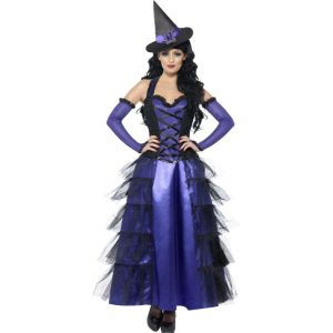 29633 - Glamourous Witch Costume, With Dress, Glovettes And Hat