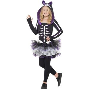 29636 - Skelly Cat Costume,Black