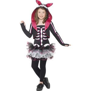 29637 - Skelly Rabbit Costume,Black