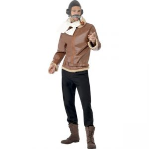 30173 - WW2 Pilot Costume,Brown