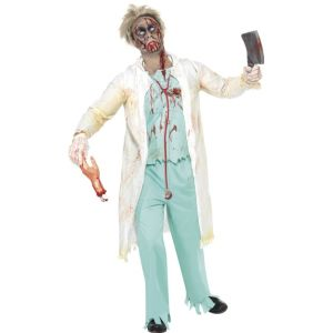 31907 - Zombie Doctor Costume, White And Green