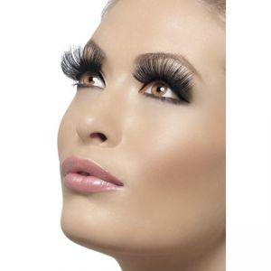 32330 - Eyelashes, Black, 60\'S Style, Long, Contains Glue