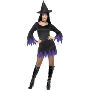 32367 - Witch Costume, Black And Purple