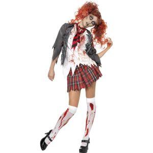 32929 - High School Horror Zombie Schoolgirl Costume, Grey