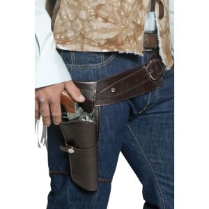 33097 - Authentic Western Wandering Gunman Belt And Holster