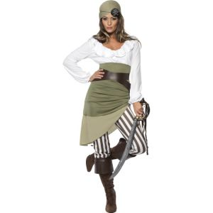 33353 - Shipmate Sweetie Costume, Top, Skirt, Leggings, Bandanna, Belt And Bootcuffs
