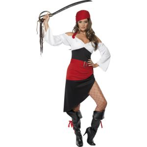 33356 - Sassy Pirate Wench Costume With Skirt