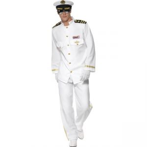 33690 - Captain Deluxe Costume, White