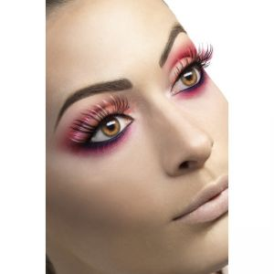 34216 - Eyelashes, Pink And Black, Contains Glue