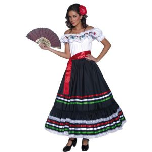 34449 - Authentic Western Sexy Senorita Costume