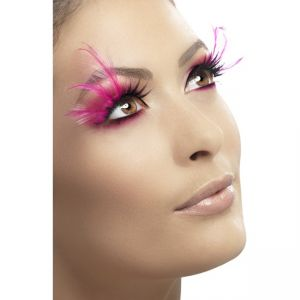 34521 - Eyelashes, Pink Feathered, Contains Glue