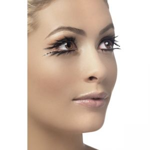 34532 - Eyelashes, Black, Top And Bottom Set, Sparkle, Contains Glue
