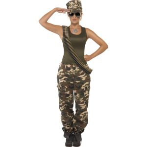35457 - Khaki Camo Costume, Female