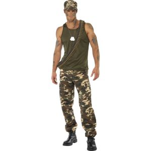 35462 - Khaki Camo Costume, Male