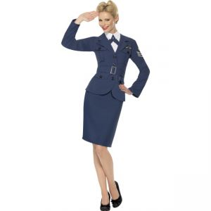 35527 - WW2 Air Force Female Captain, Blue