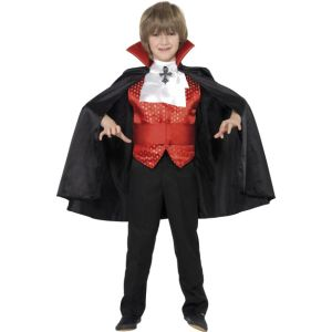 35830 - Dracula Boy Costume, Red And Black